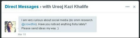 automatic direct message with question