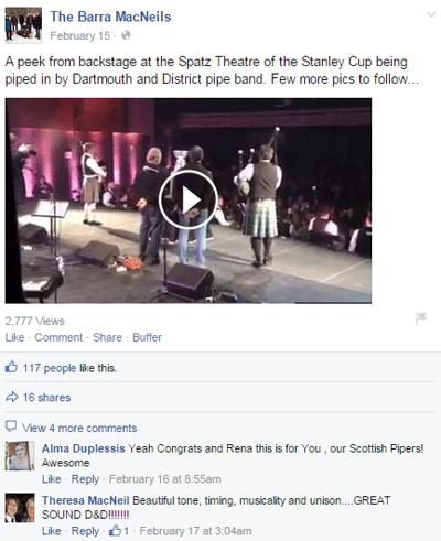 barra macneils facebook video post