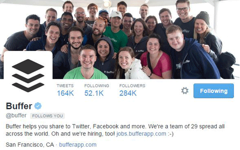 buffer twitter account