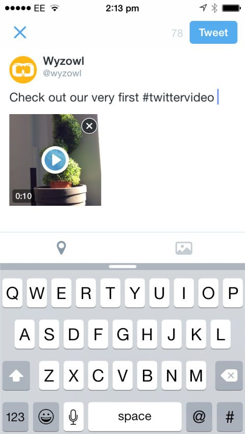 caption a twitter video on a phone