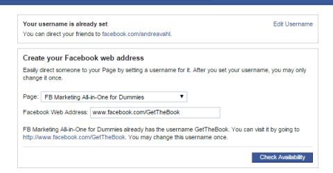 changing facebook url