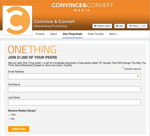 convince & convert custom tab