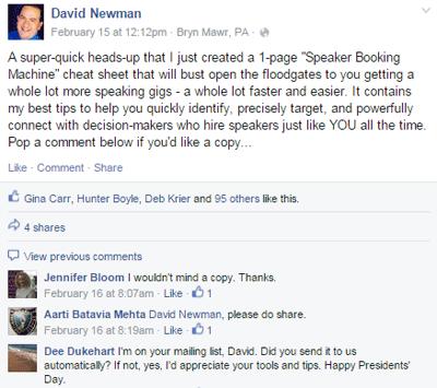 do it marketing facebook post