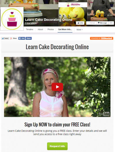 learn cake decorating online facebook app