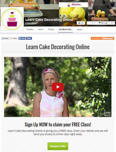 learn cake decorating online facebook app