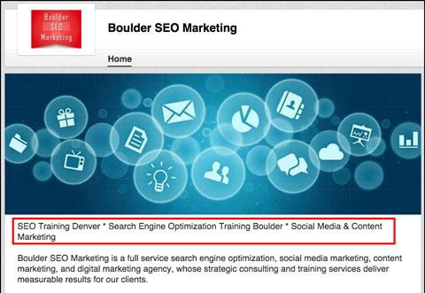 linkedin company page description with keywords