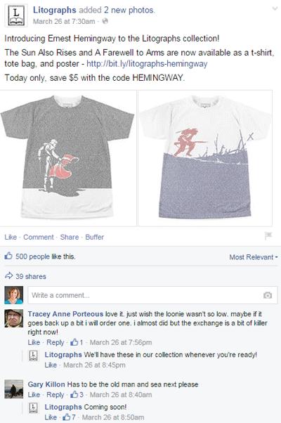 litograph discount facebook post
