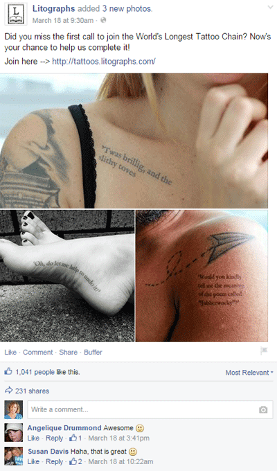 litograph tattoo facebook post