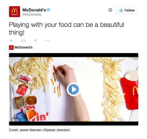 mcdonalds twitter video product promo