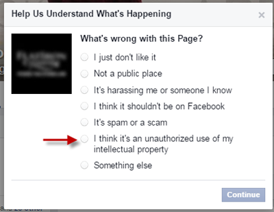 reporting a page