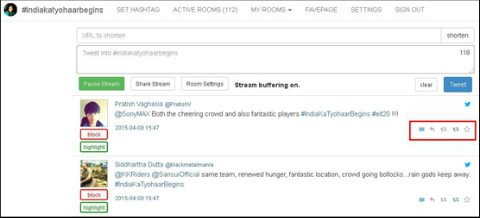 tweetchat dashboard