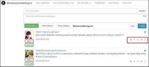 tweetchat dashboard