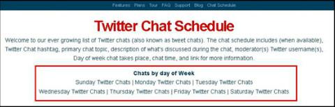 tweetreport chat schedule filtering