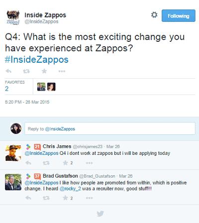 zappos #insidezappos tweet chat