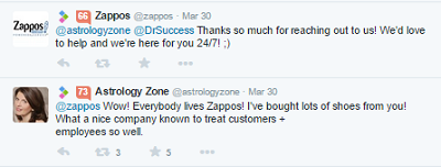 zappos reputation tweet
