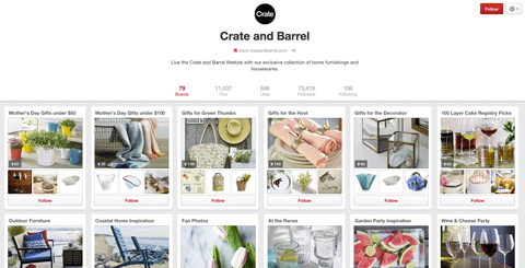 crate and barrel on pinterest
