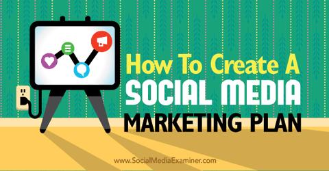 create a social media marketing plan