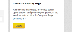 create company page feature