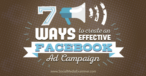 create effective facebook ad campaigns