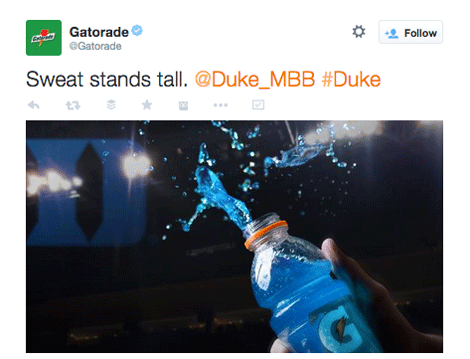 gatorade tweet with image
