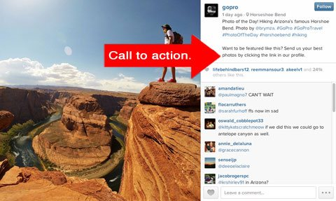 gopro cta on instagram
