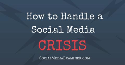 handle a social media crisis