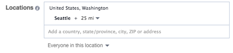 location targeting in facebook