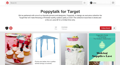 poppytalk target group board