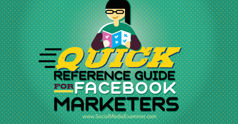 reference guide for facebook marketer