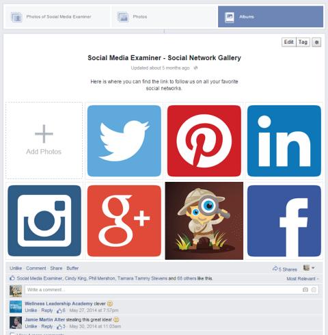 social icon image album