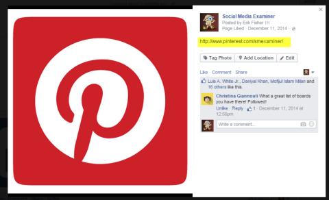 social link in icon image description