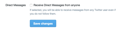 twitter direct message optin