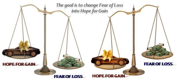 The goal is to change Fear of Loss into Hope for Gain