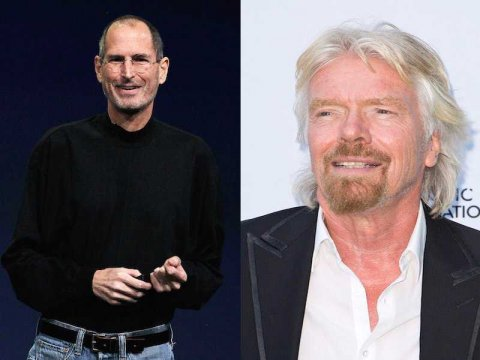 Steve Jobs and Richard Branson